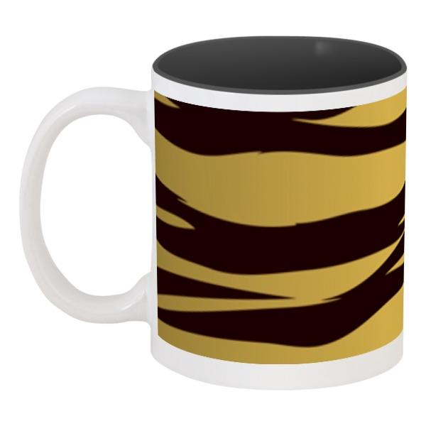 Кружка цветная внутри Printio Тигровый тигровый орех купить в москве
