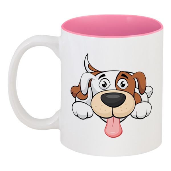 Кружка цветная внутри Printio Собака кружка цветная внутри printio смешная собака
