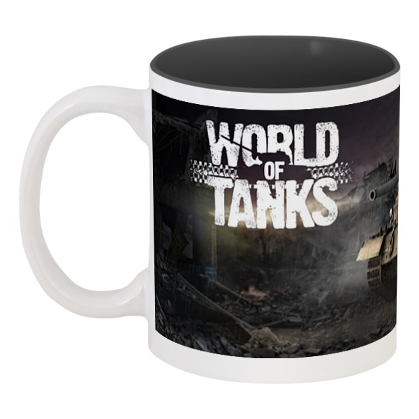 Printio World of tanks кружка цветная внутри printio world of tanks