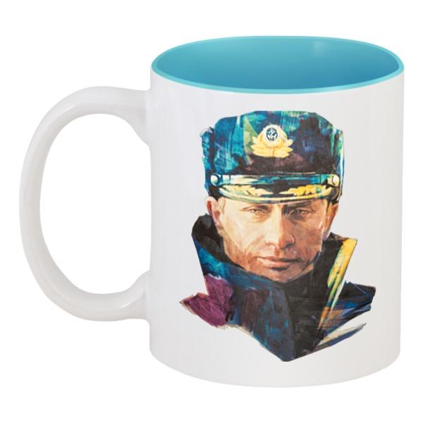 Кружка цветная внутри Путин – Моряк в фуражке