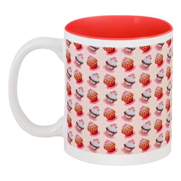 Кружка цветная внутри Printio Кексы фруктовница 2 уровня кексы