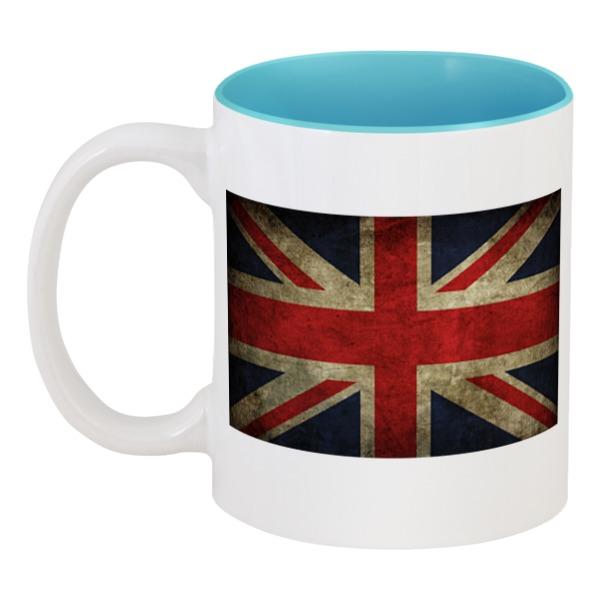 Кружка цветная внутри Printio Флаг британии миланна винтхальтер избритании с