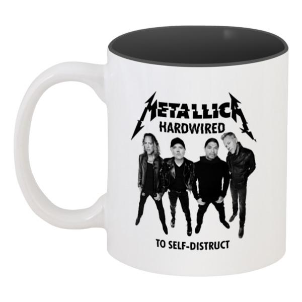 Кружка цветная внутри Printio Metallica