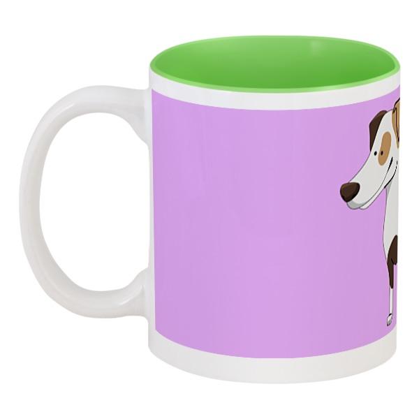Кружка цветная внутри Printio Джек рассел.собака джек восьмеркин американец 2 dvd