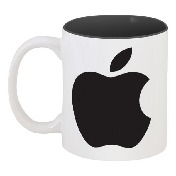 Кружка цветная внутри Printio Apple кружка цветная внутри printio дизайн от nixxxony inc ты идиот идиот