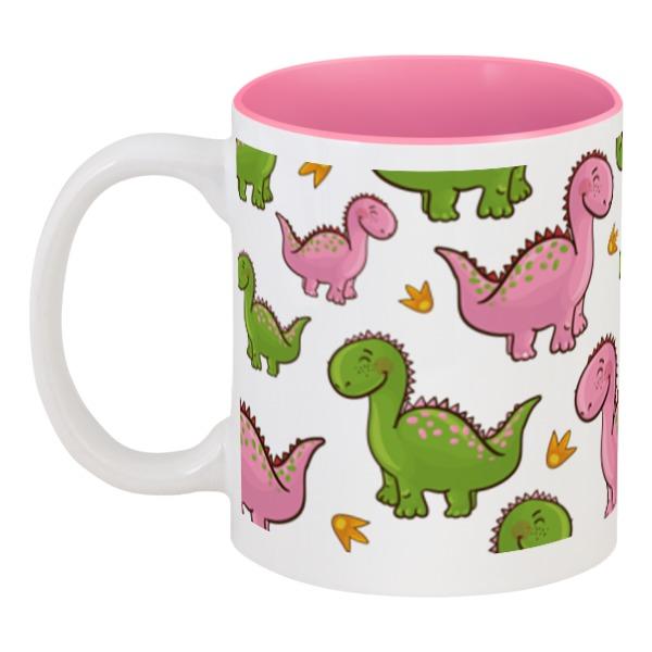 Кружка цветная внутри Printio Динозаврики кружка цветная внутри printio динозаврики