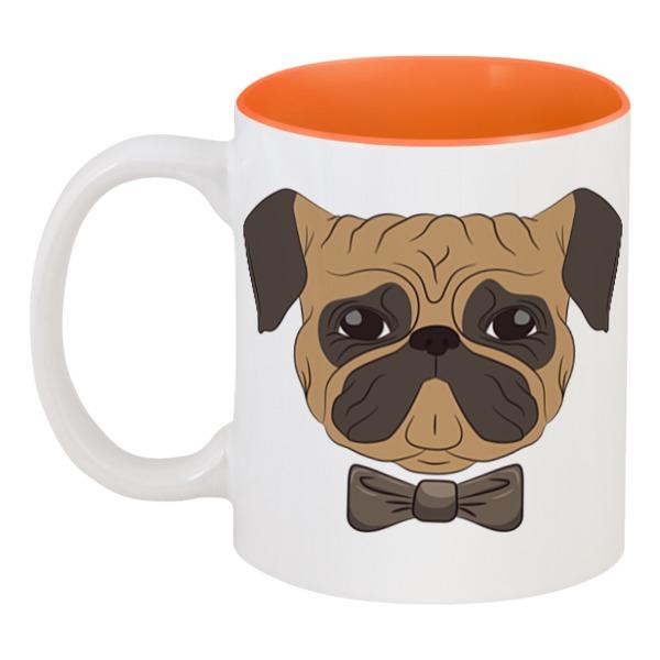 Кружка цветная внутри Printio Собака мопс кружка цветная внутри printio смешная собака
