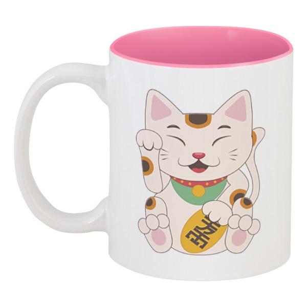 Кружка цветная внутри Printio Кошка кружка цветная внутри printio кружка женщина кошка catwoman