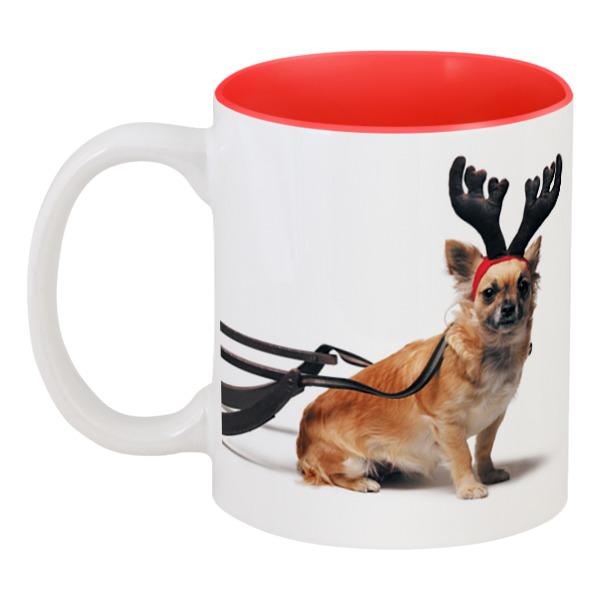 Фото - Кружка цветная внутри Printio 2018 год желтой собаки кружка printio год собаки 2018