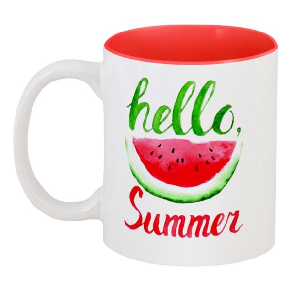 Кружка цветная внутри Printio Hello summer