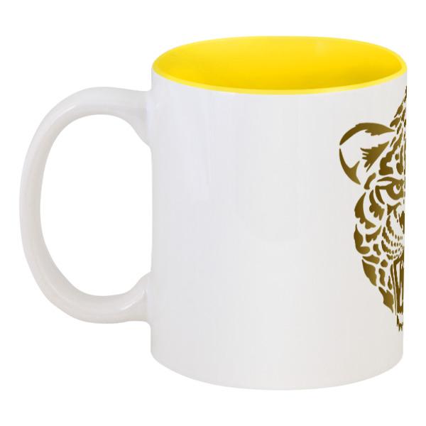 Кружка цветная внутри Printio Леопард shauna леопард коричневый