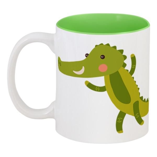 Кружка цветная внутри Printio Крокодил chiaro бра chiaro версаче 254029501