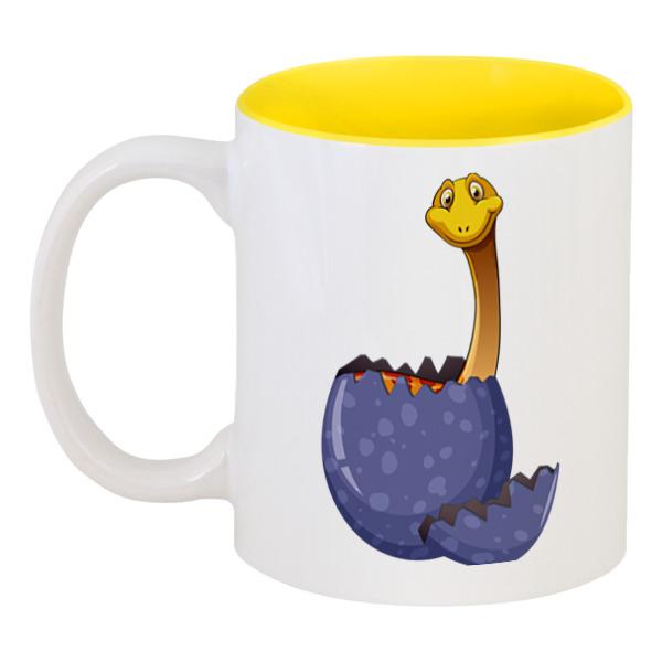 Кружка цветная внутри Printio Счастливое яйцо динозавра блуза jenks счастливое настроение цвет фиолетовый