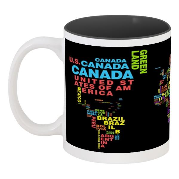 Фото - Кружка цветная внутри Printio Чашка мира [супермаркет] jingdong геб scybe фил приблизительно круглая чашка установлена в вертикальном положении стеклянной чашки 290мла 6 z