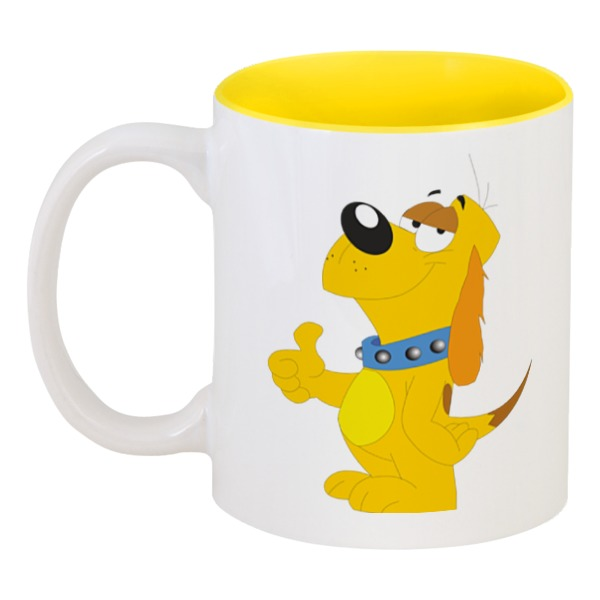 Кружка цветная внутри Printio Забавный пёс кружка printio пёс с косточкой