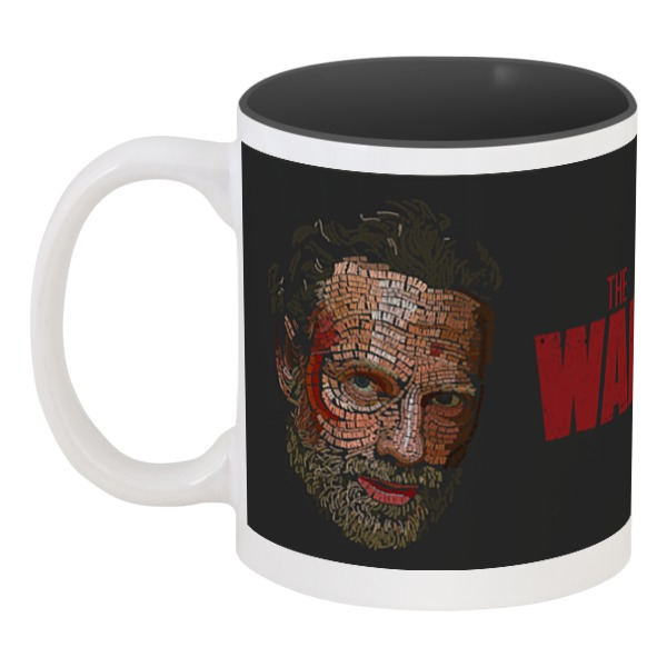 Кружка цветная внутри Printio The walking dead chic the walking dead rick grimes pattern square shape flax pillowcase without pillow inner