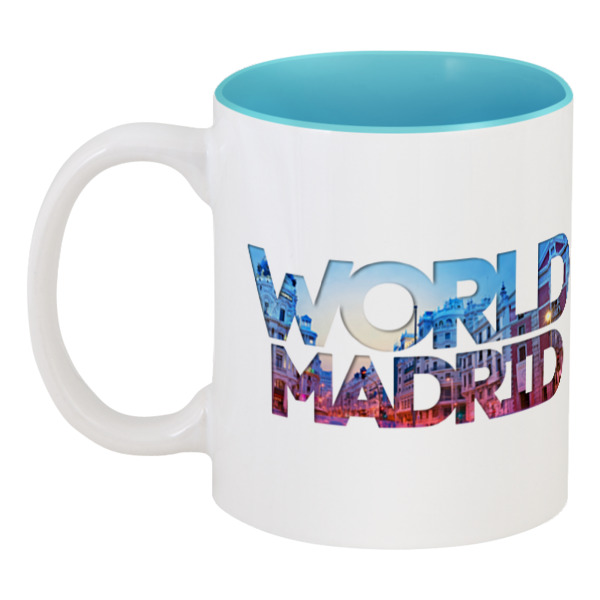 Кружка цветная внутри Printio different world: madrid toros madrid