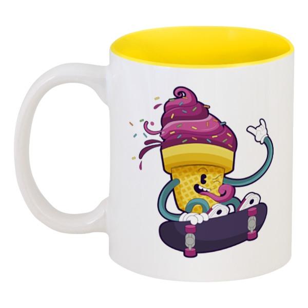 Кружка цветная внутри Printio Мятежное мороженое кружка цветная внутри printio какаду инка
