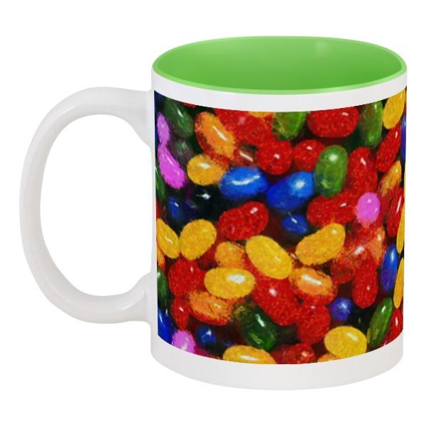 Кружка цветная внутри Printio Разноцветные леденцы леггинсы printio леденцы