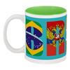 """Кружка цветная внутри """"BRICS - БРИКС"""" - россия, китай, индия, бразилия, юар"""