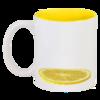 """Кружка цветная внутри """"Лимон"""" - приколы, в подарок, оригинально"""
