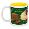"""Кружка цветная внутри """"Golden Cacao"""" - шоколад, воздушный шар, air balloon, to fly, golden life"""