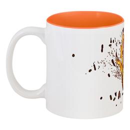 """Кружка цветная внутри """"Skrillex mug"""" - арт, рисунок"""