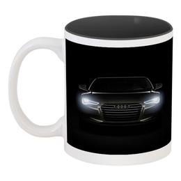 """Кружка цветная внутри """"Audi (Ауди)"""" - авто, машина, автомобиль, ауди, audi"""