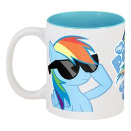 "Кружка цветная внутри ""Rainbow Dash is best pony /)^з^(\"" - pony, mlp, пони, dash, magic, friendship, радуга дэш"