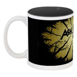 """Кружка цветная внутри """"Ash vs Evil Dead"""" - арт, ретро, ужасы, мертвецы"""