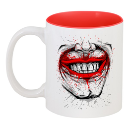 """Кружка цветная внутри """"Джокер"""" - джокер, улыбка, joker"""