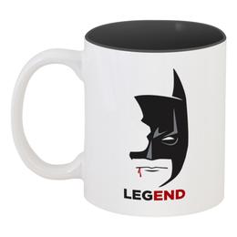 "Кружка цветная внутри ""Бэтмен (Batman)"" - бэтмен, batman"