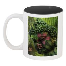 """Кружка цветная внутри """"Будда """" - природа, будда, buddha, буддизм, духовность"""