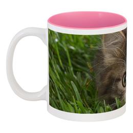 """Кружка цветная внутри """"Котик"""" - кружки, котики, кружки коты"""