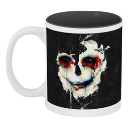"""Кружка цветная внутри """"Череп (skull)"""" - skull, череп, зомби, подарок, мертвец"""