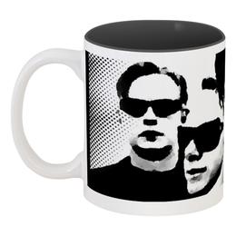 """Кружка цветная внутри """"Depeche Mode 2"""" - depeche mode, депеш мод"""