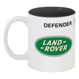 "Кружка цветная внутри ""Not a JEEP"" - 4x4, offroad, land rover, lr"