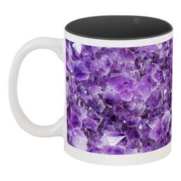 """Кружка цветная внутри """"Магия аметиста"""" - фиолетовый, магия, аметист"""