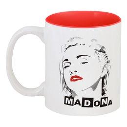 """Кружка цветная внутри """"Мадонна"""" - madonna"""