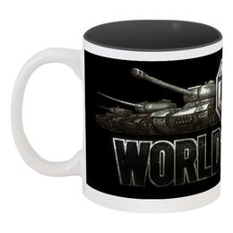 "Кружка цветная внутри ""Сувенир World of Tanks"" - world of tanks"