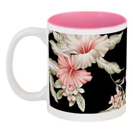 """Кружка цветная внутри """"Любимой маме"""" - 8 марта, цветы, маме, день матери"""