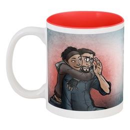 """Кружка цветная внутри """"Кружка Half-Life 2"""" - red, красный, в подарок, valve, кружка, пара, half-life, полураспад, гордон фримен, валв"""