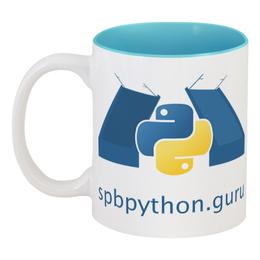 """Кружка цветная внутри """"SPb Python Zen of Python Mug"""" - python, zen, spbpython"""