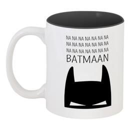 """Кружка цветная внутри """"бетмэн ( batman )"""" - бетмэн"""