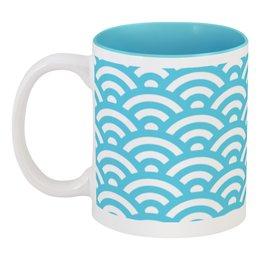 "Кружка цветная внутри ""Морская волна."" - море, волна, абстракция, вода, океан"