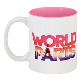 """Кружка цветная внутри """"""""DIFFERENT WORLD"""": Paris"""" - мир, города, world, париж, paris"""