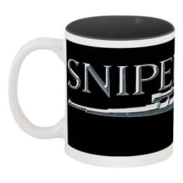 """Кружка цветная внутри """"Sniper"""" - sniper, снайпер, убийца, киллер, headshot"""