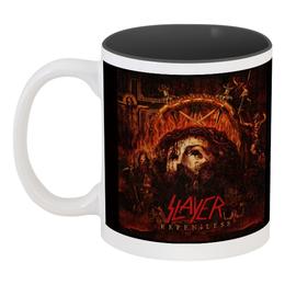"""Кружка цветная внутри """"Slayer Repentless 2015"""" - музыка, чай, металл, slayer, thrash metal"""
