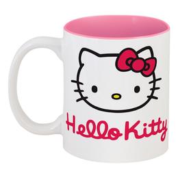 """Кружка цветная внутри """"Hello Kitty"""" - hello kitty, хелло китти, каваий"""