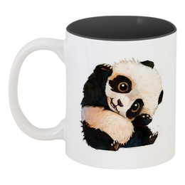 "Кружка цветная внутри ""Пандочка"" - панда, мимишка"